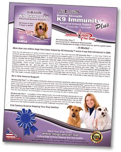 K9 Immunity Plus Canine Cancer Supplement Information
