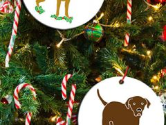 Tripawds Three Legged Dog Holiday Ornaments