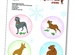 Free Tripawds Paper Christams Ornament Template