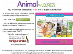 Free Animal Wellness Magazine Subscription Coupon