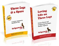 Download Tripawds E-books for Fast Answers to Canine Amputation and Dog Rehab Questions