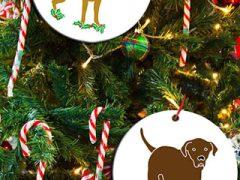 Tripawds Three Legged Dog Holiday Ornaments
