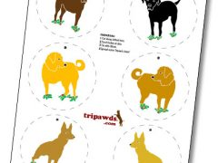 Make your own Tripawds ornaments to spread some Hoppy Holiday cheer!