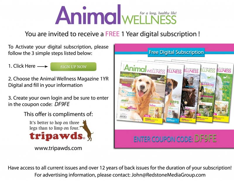 Free Animal Wellness Magazine Subscription Coupon