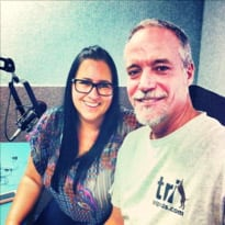 Tripawds Admin Jim with Sam on Vegas Rock Dog Radio