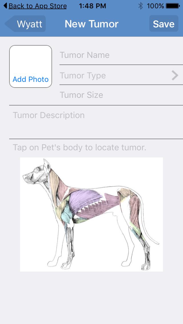 pet tumor tracker app