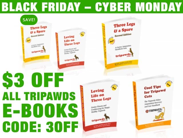 tripawds downloads save on all ebooks with code 3off