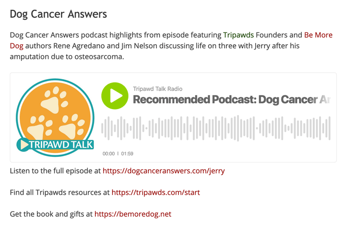 dog cancer answers